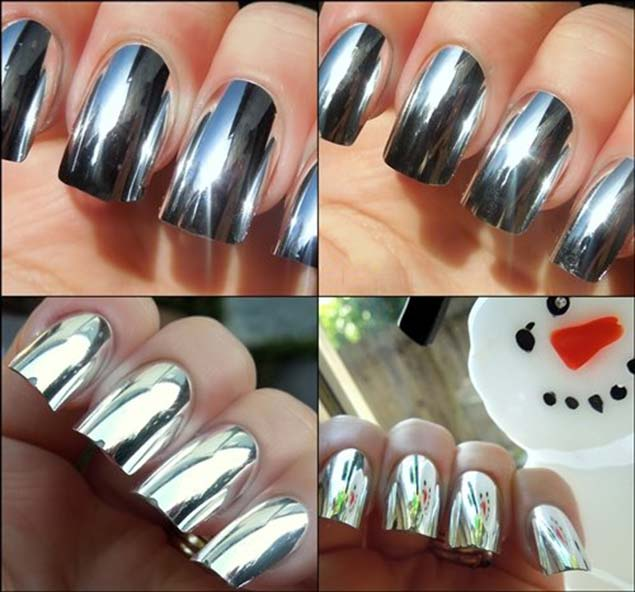 3D Foil Nail Transfer Manicure Wraps, Art Stickers Nail Polish ...