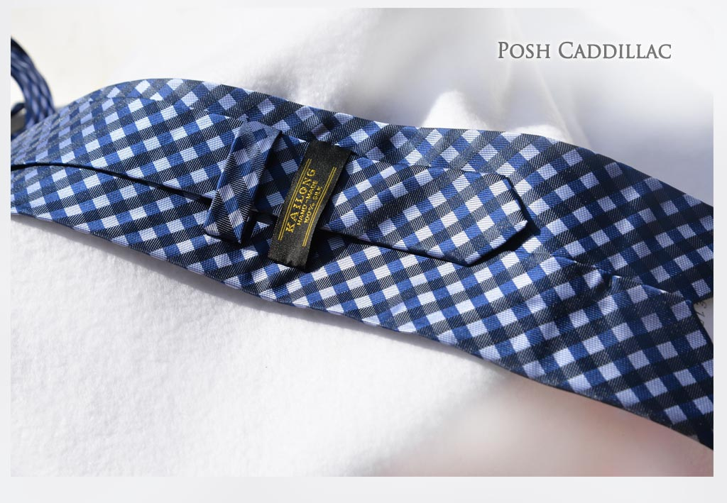 Checkered-Blue-jacquard-silk-handmade-Tie-web-txt-below