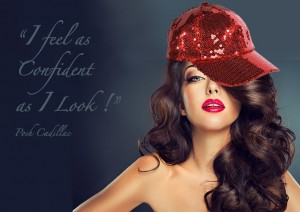 I-feel-as-confident-as-I-look-posh-Cadillac-red-sequined-cap-text-web-B