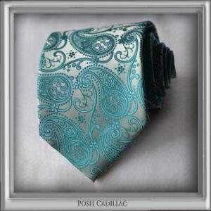 Aqua-Baby-Blue-Floral-Woven-Jacquard-Silk-Handmade-Posh-Cadillac-slider-web-S