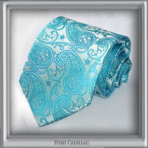 Aqua-Baby-Blue-Floral-Woven-Jacquard-Silk-Handmade-Posh-Cadillac-slider3-web-S
