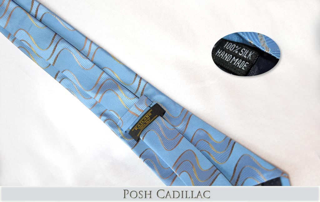 Aqua-Baby-Blue-Tie-with-gold-bronze-wave-pattern-Jacquard-Handmade-Tie-Posh-Cadillac-txt-web