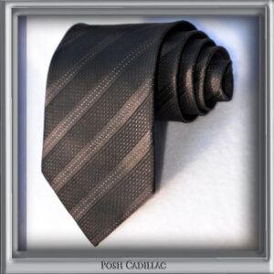 Black-Jaquard-Tie-with-dotted-white-lines-Silk-Handmade-Posh-Cadillac-txt2-web-S