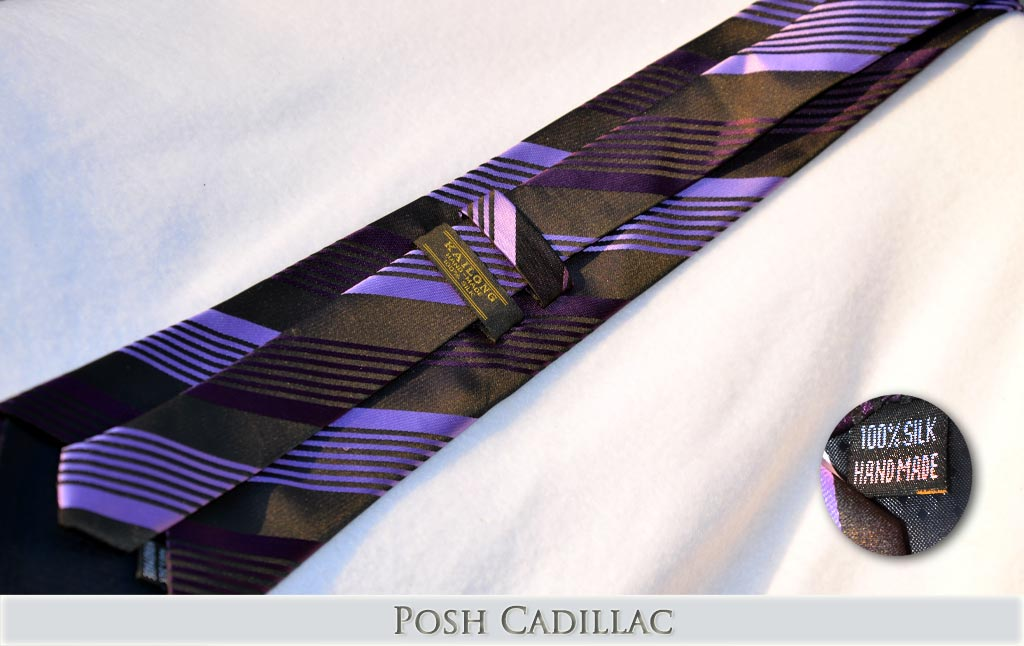 _Black-Purple-shades-Lilac-Striped-Tie-Jacquard-Handmade-Silk-Posh-Cadillac-txt-below-Web