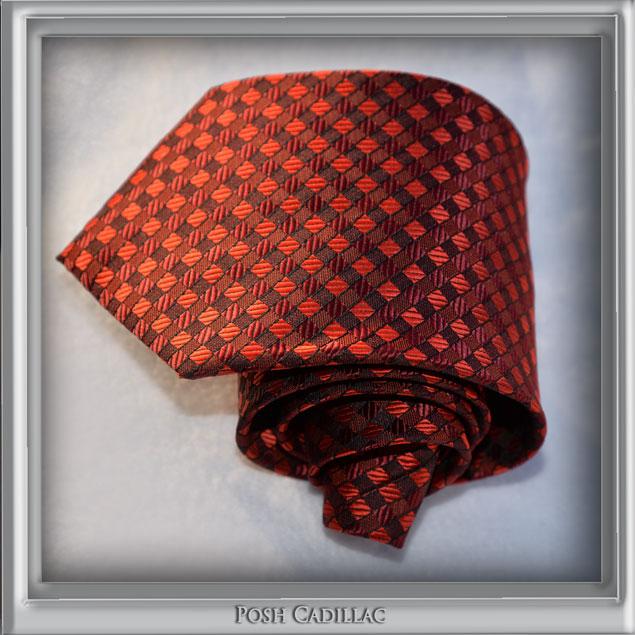Black-Royal-Red-Checkered-Jacquard-Handmade-Tie-Silk-Posh-Cadillac-txt-web-S