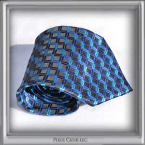 Blue-Shade-cubic-square-zig-zag-pattern-Jacquard-Handmade-Silk-Posh-Cadillac-txt1-web-S