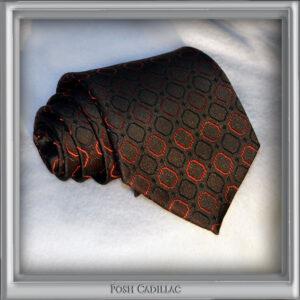 Byzantine-Gothic-Inspired-Black-Tie-with-Cubic-Red-Patern-Jacquard-Handmade-Silk-Posh-Cadillac-txt-web-S