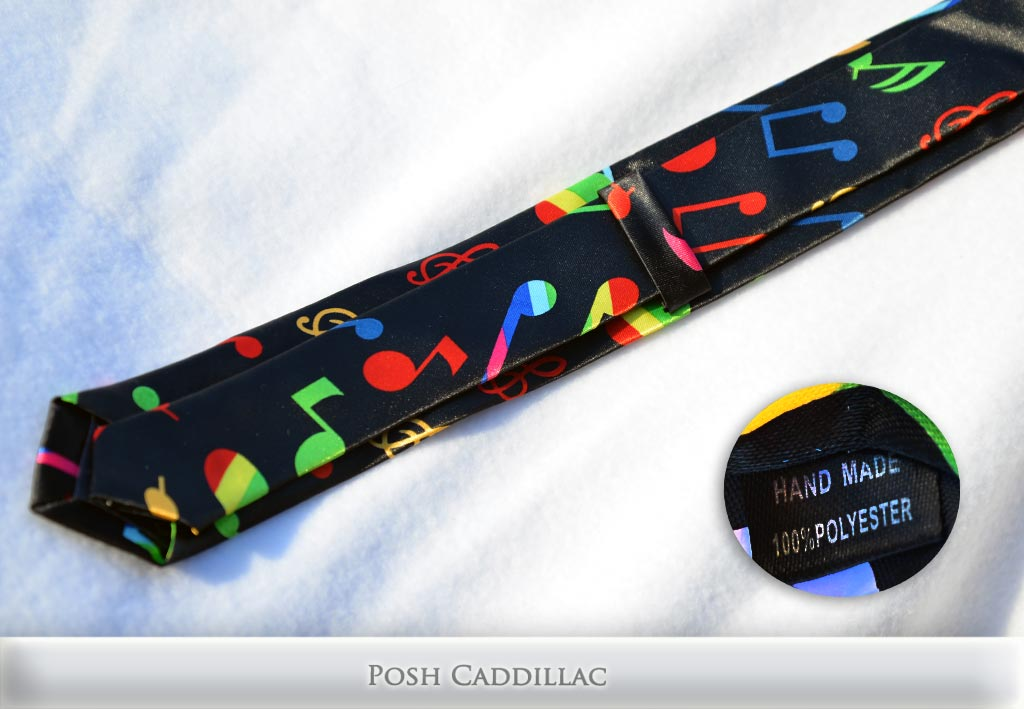 Colorful-Notes-music-Musician-Tie-Handmade-Posh-Cadillac-txt-below-web
