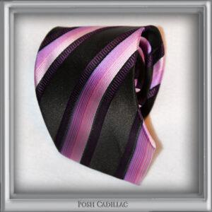 Elegant-Black-Pink-Violet-Striped-Tie-Handmade-Jacquard-Silk-main-txt1-web-S