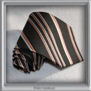 Giorgio-Armani-Striped-Tie-Mauve-Brown-Bronze-black-white-silk-handmade-web-posh-cadillac-slider-web-S