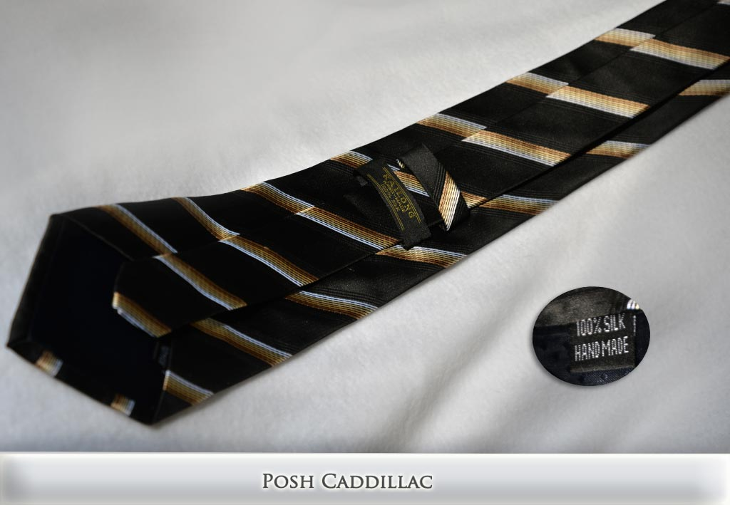 Grecian-Hellinistic-Roman-Inspired-Tan-Cream-and-Black-Striped-Tie-Jacquard-Handmade-Silk-Posh-Cadillac-txt-web