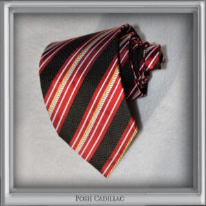 Grecian-Roman-Hellinist-inspired-yellow-Gold-red-black-white-stripes-Posh-Cadillac-Tie-Handmade-slider-web