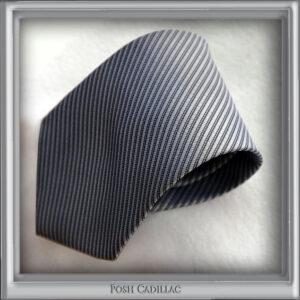 Grey-silver-thin-striped-weave-tie-Posh-Cadillac-slider-web S