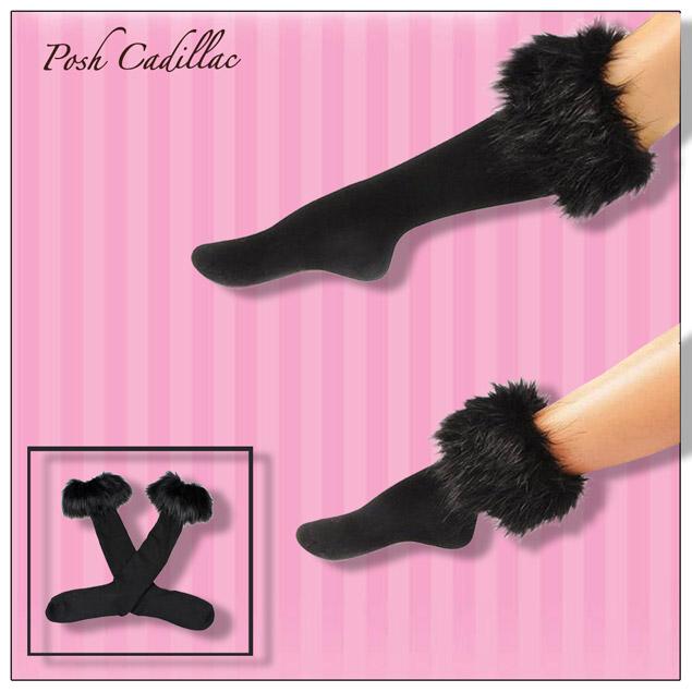 Stylish-Black-Leg-Socks-with-Cuffs-Posh-Cadillac-main2-web-S
