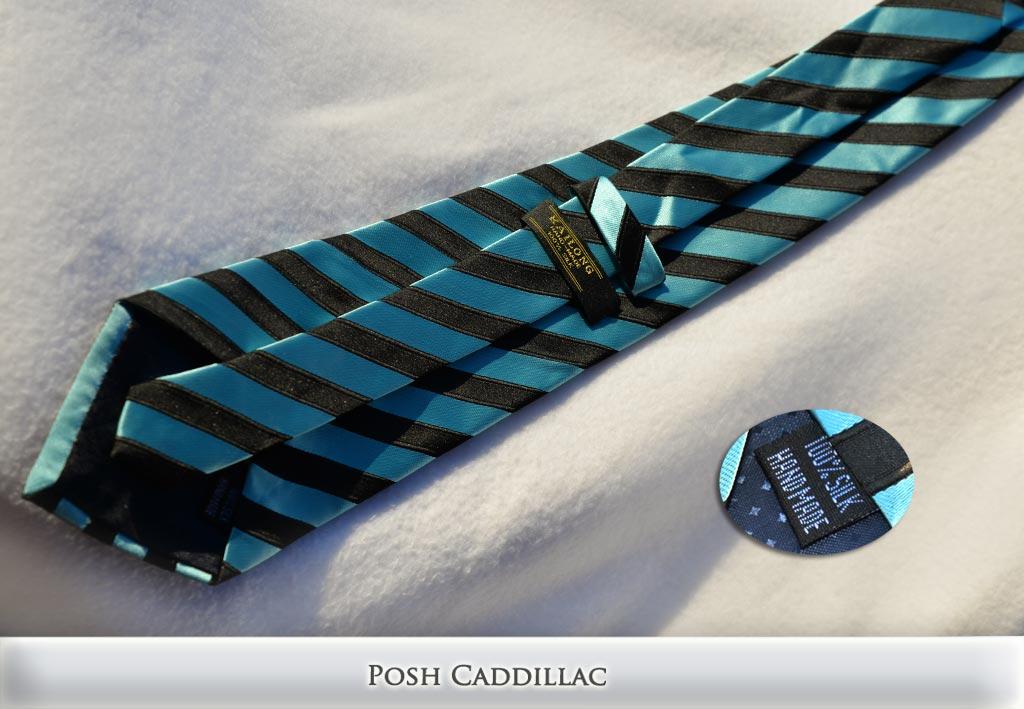 Turquoise-and-Black-Striped-Tie-Jacquard-Handmade-Silk-Posh-Cadillac-txt-below-web