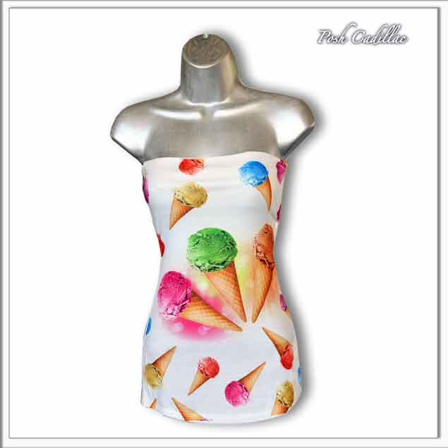 Icecream-sleeveless-boob-bust-top-plain-main-S