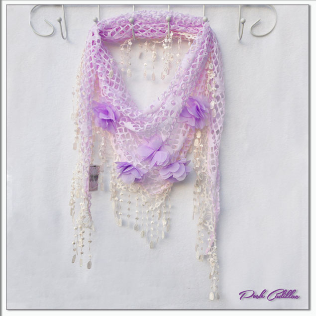 Purple-lillac-floral-net-lace-shawl-scarf-web-S