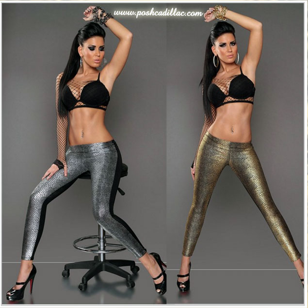 Black-Gold-leggings-Snake-Lizard-print-gold-&-silver-posh-cadillac-web-S