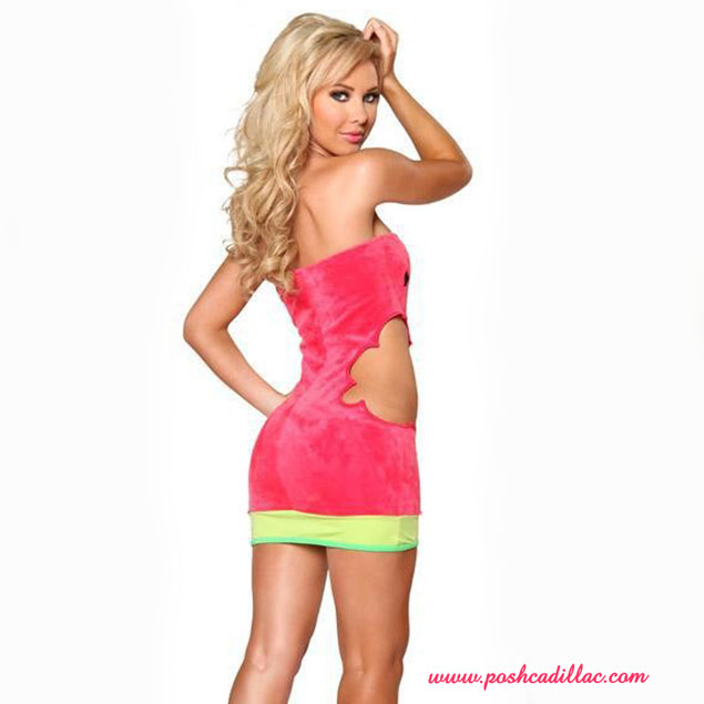 Sexy-watermellon-dress-red-pink-green-yellow-fashion-Posh-Cadillac-back-web-S