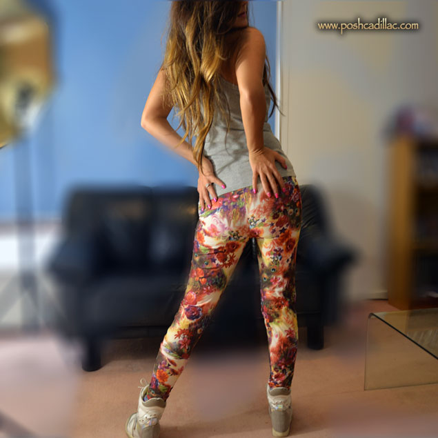 Colorful-pieackock-Leggings-sepia-based-posh-cadillac-back-web-S