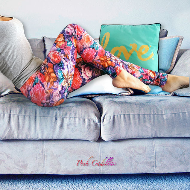 red-based-colourful-floral-pants-leggings-soft-velvet-feel-posh-cadillac-web-s