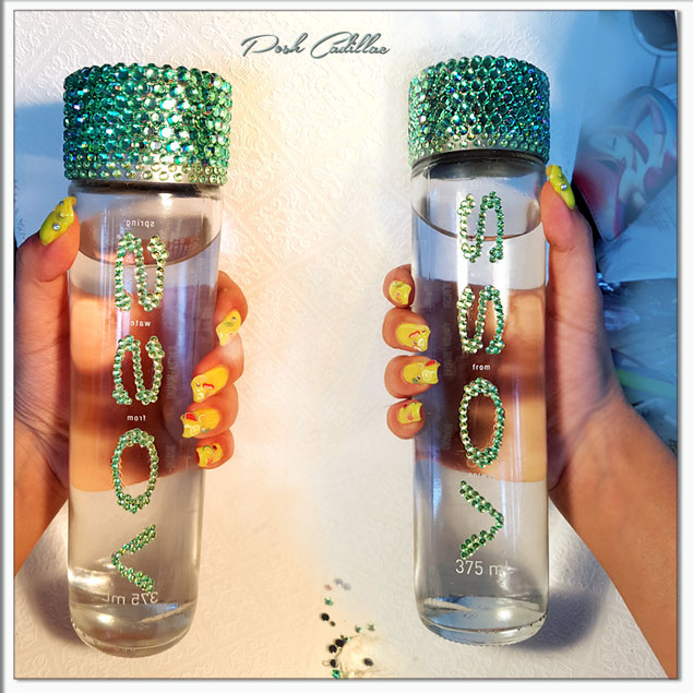 voss-bottles-rhinestone-bling-swaropsky-elements-mint-green-pink-posh-cadillac-holding-green-web-s