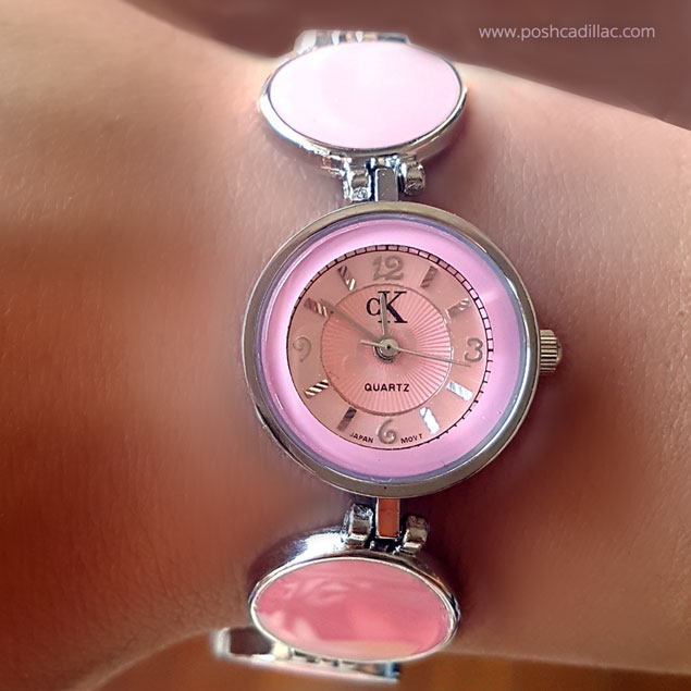 ck-calvin-klein-inspired-barbie-pink-silver-watch-posh-cadillac-on-model-web-s