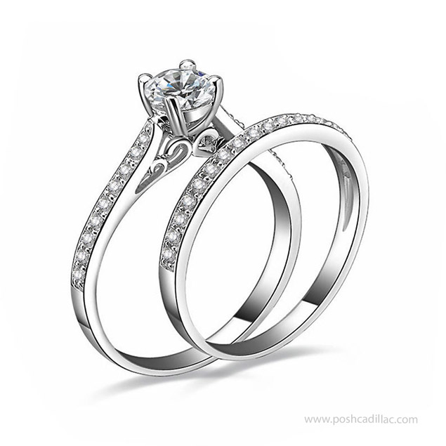 crystal wedding rings images