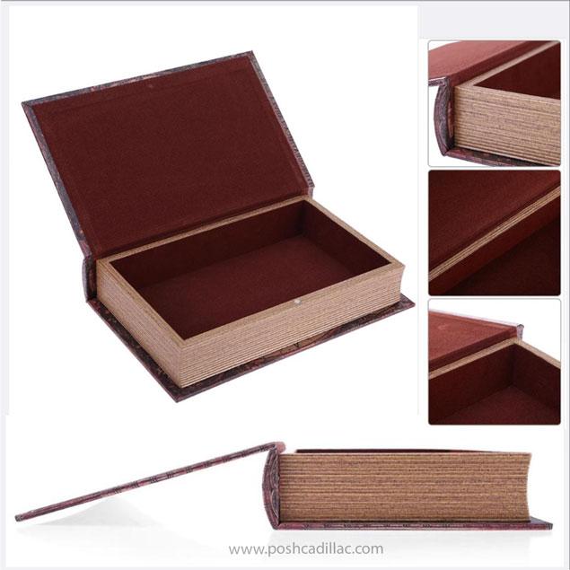 Renaissance, Medieval Gothic, World Map Secret Safe Disguised Book Jewelry/  Cash/ Money Bank Box